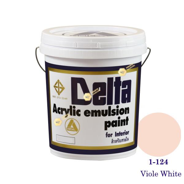 เดลต้า สีน้ำอะครีลิคภายใน 1-124 Viole White 5gl.