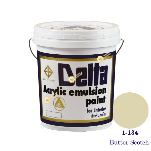 เดลต้า สีน้ำอะครีลิคภายใน 1-134 Butter Scotch 5gl.
