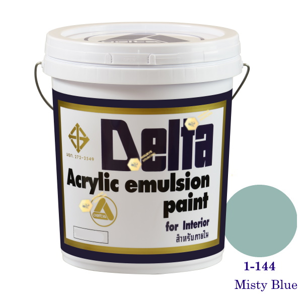 เดลต้า สีน้ำอะครีลิคภายใน 1-144 Misty Blue 5gl.