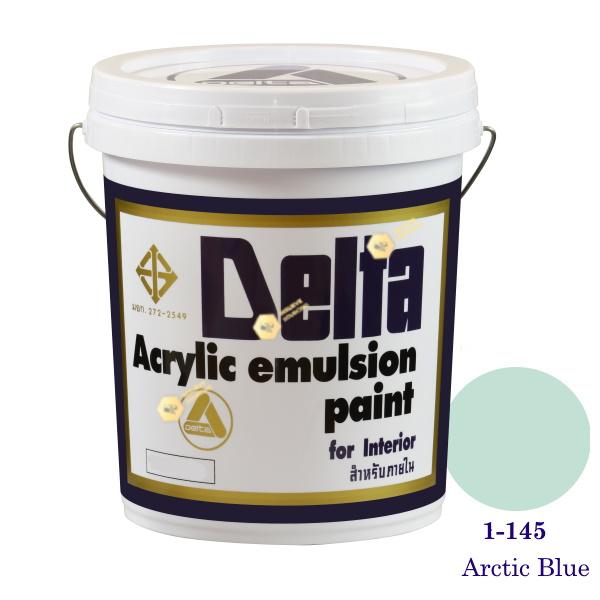 เดลต้า สีน้ำอะครีลิคภายใน 1-145 Arctic Blue 5gl.