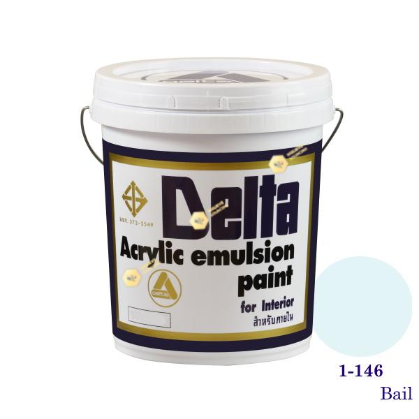 เดลต้า สีน้ำอะครีลิคภายใน 1-146 Bail 5gl.