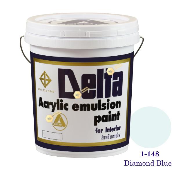 เดลต้า สีน้ำอะครีลิคภายใน 1-148 Diamond Blue 5gl.