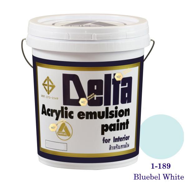 เดลต้า สีน้ำอะครีลิคภายใน 1-189 Bluebel White 5gl.