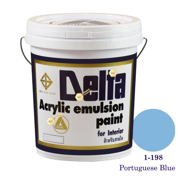 เดลต้า สีน้ำอะครีลิคภายใน 1-198 Portuguese Blue 5gl.