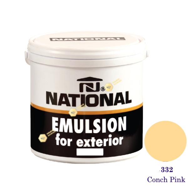 NATIONAL สีน้ำอะครีลิคภายนอก 332 Conch Pink-1gl