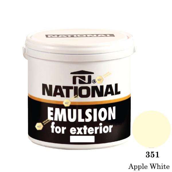 NATIONAL สีน้ำอะครีลิคภายนอก 351 Apple White-1gl