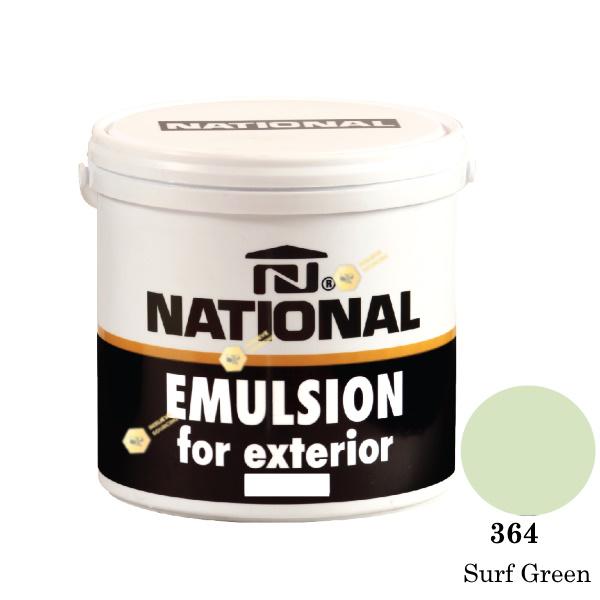 NATIONAL สีน้ำอะครีลิคภายนอก 364 Surf Green-1gl