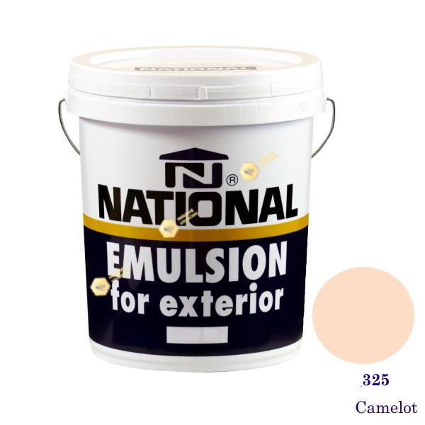 NATIONAL สีน้ำอะครีลิคภายนอก 325 Camelot-5gl