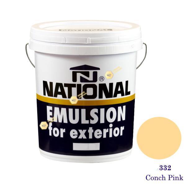 NATIONAL สีน้ำอะครีลิคภายนอก 332 Conch Pink -5gl