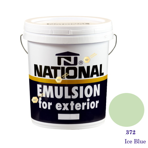 NATIONAL สีน้ำอะครีลิคภายนอก 372 Ice Blue-5gl