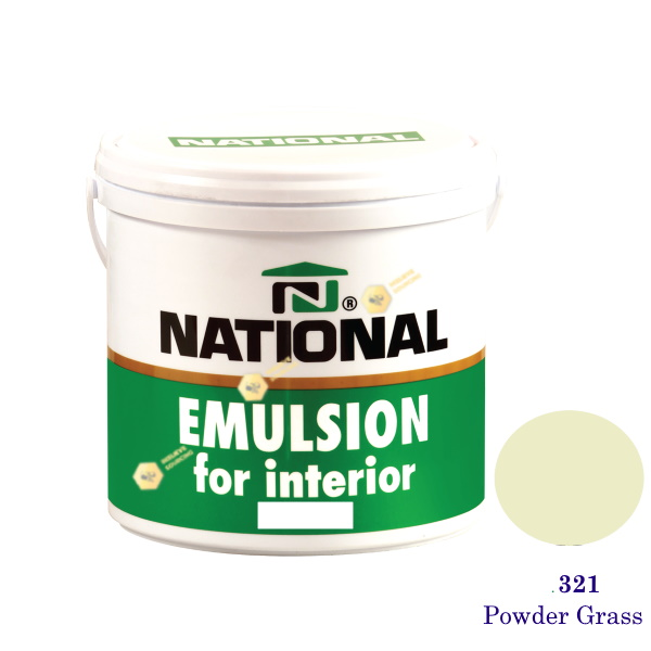 NATIONAL สีน้ำอะครีลิคภายใน 321 Powder Grass-1gl