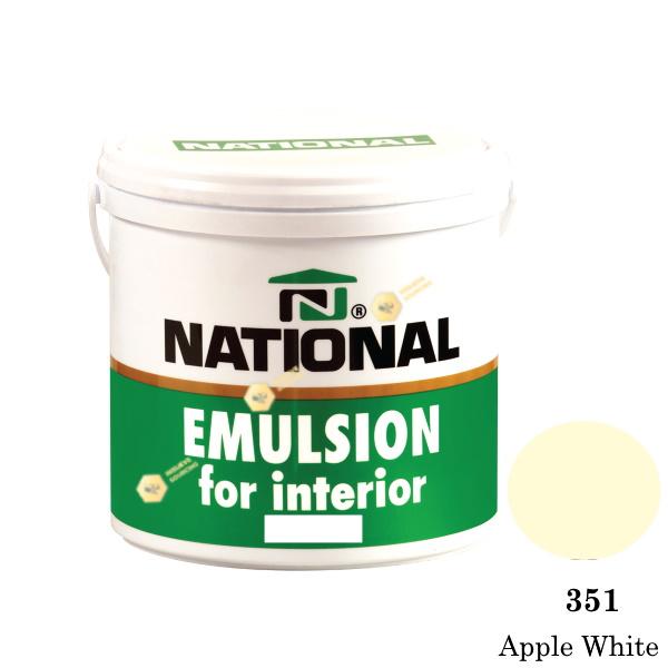 NATIONAL สีน้ำอะครีลิคภายใน 351 Apple White-1gl