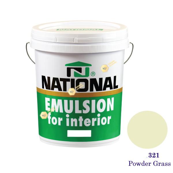 NATIONAL สีน้ำอะครีลิคภายใน 321 Powder Grass -5gl