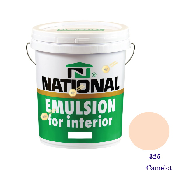 NATIONAL สีน้ำอะครีลิคภายใน 325 Camelot-5gl