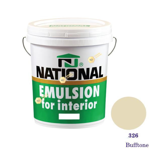 NATIONAL สีน้ำอะครีลิคภายใน 326 Bufftone-5gl