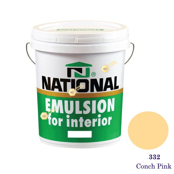 NATIONAL สีน้ำอะครีลิคภายใน 332 Conch Pink -5gl