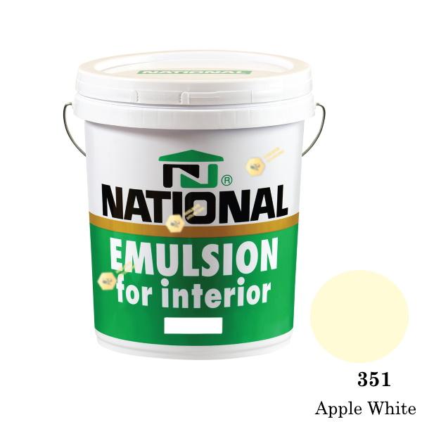 NATIONAL สีน้ำอะครีลิคภายใน 351 Apple White-5gl