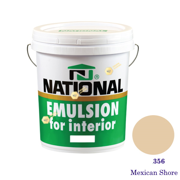 NATIONAL สีน้ำอะครีลิคภายใน 356 Mexican Shore-5gl
