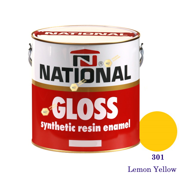 NATIONAL GLOSS สีเคลือบน้ำมัน 301 Lemon Yellow-1gl