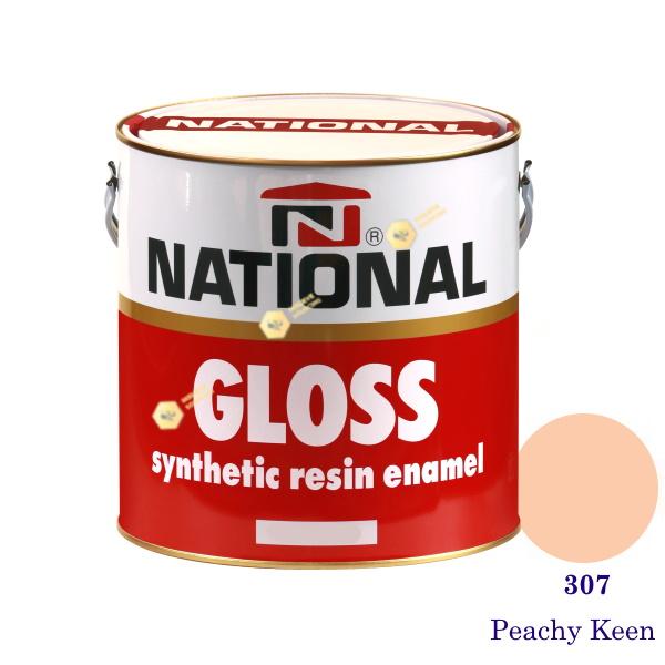NATIONAL GLOSS สีเคลือบน้ำมัน 307 Peachy Keen-1gl