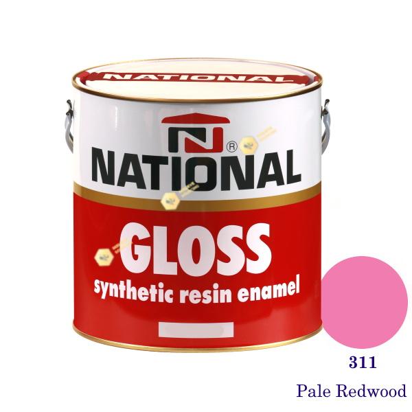 NATIONAL GLOSS สีเคลือบน้ำมัน 311 Pale Redwood-1gl