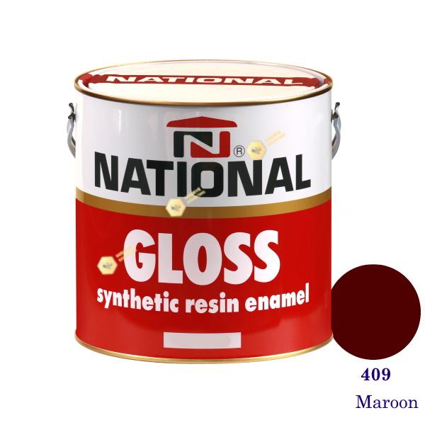 NATIONAL GLOSS สีเคลือบน้ำมัน 409 Maroon-1gl