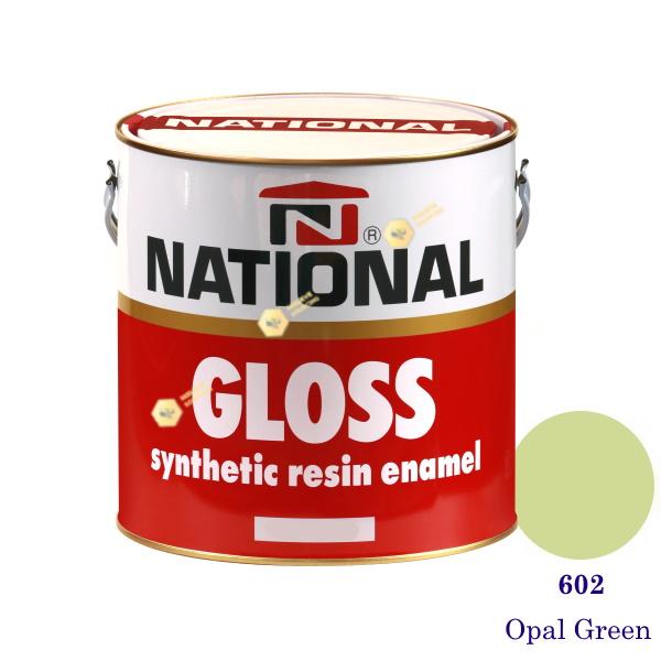 NATIONAL GLOSS สีเคลือบน้ำมัน 602 Opal Green-1gl