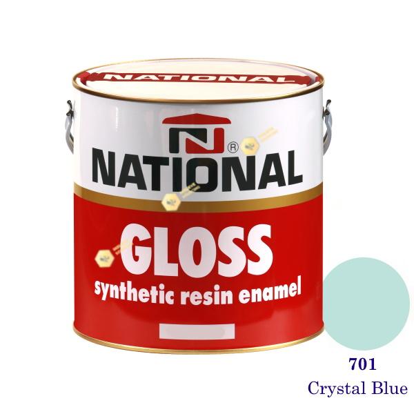 NATIONAL GLOSS สีเคลือบน้ำมัน 701 Crystal Blue-1gl