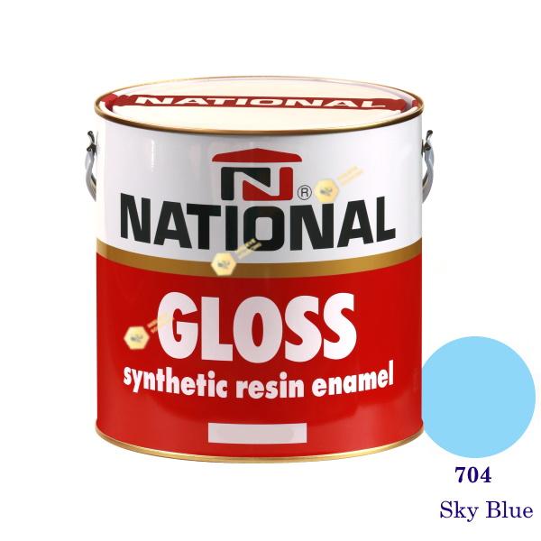 NATIONAL GLOSS สีเคลือบน้ำมัน 704 Sky Blue-1gl
