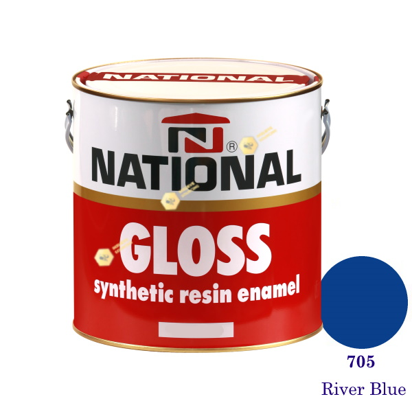 NATIONAL GLOSS สีเคลือบน้ำมัน 705 River Blue-1gl