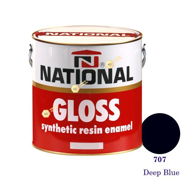 NATIONAL GLOSS สีเคลือบน้ำมัน 707 Deep Blue-1gl