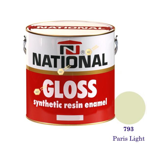 NATIONAL GLOSS สีเคลือบน้ำมัน 793 Paris Light-1gl