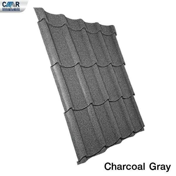 แผ่นหลังคาเหล็กเซรามิก CMR 76x120 สีCharcoal Gray