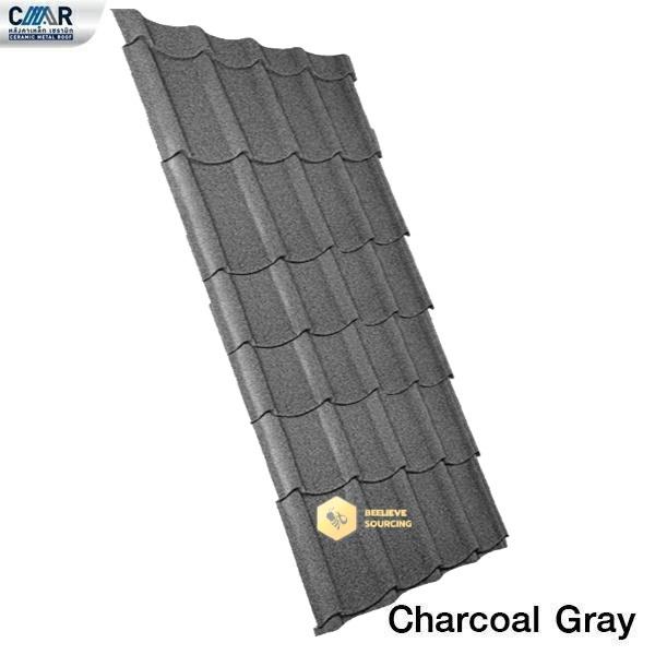 แผ่นหลังคาเหล็กเซรามิก CMR 76x225 สีCharcoal Gray