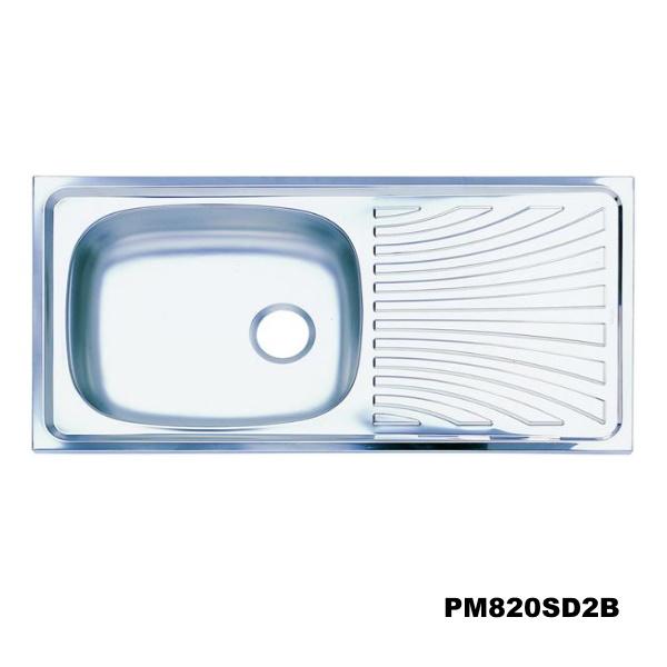 อ่างซิงค์1 หลุมมีที่พักจาน สะดือB (เจาะ2รูก๊อก) PREMA