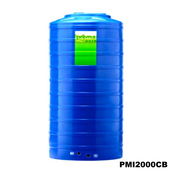 ถังเก็บน้ำบนดิน PREMA สีฟ้า ขนาด 2,000 ลิตร
