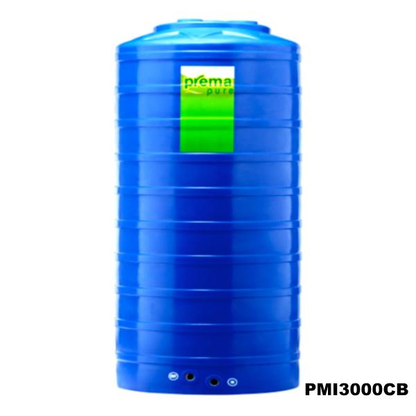 ถังเก็บน้ำบนดิน PREMA สีฟ้า ขนาด 3,000 ลิตร