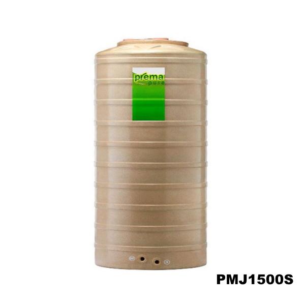 ถังเก็บน้ำบนดิน PREMA สีแซนสโตน ขนาด 1,500 ลิตร