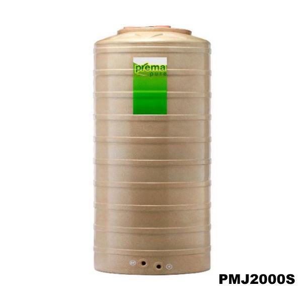 ถังเก็บน้ำบนดิน PREMA สีแซนสโตน ขนาด 2,000 ลิตร