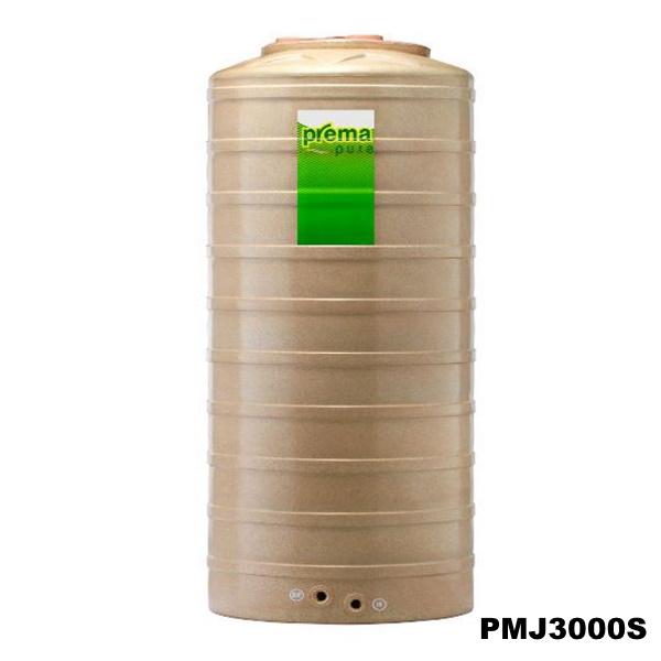 ถังเก็บน้ำบนดิน PREMA สีแซนสโตน ขนาด 3,000 ลิตร