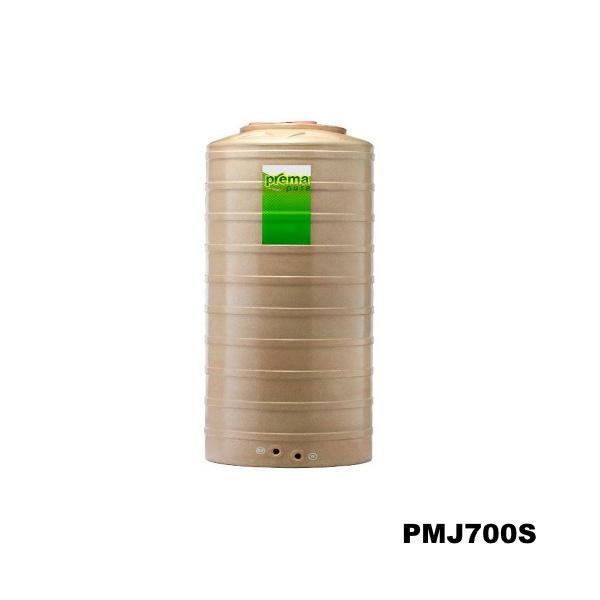 ถังเก็บน้ำบนดิน PREMA สีแซนสโตน ขนาด 700 ลิตร